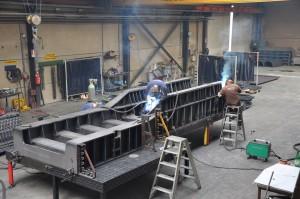 Chassis voor scheepsgeneratoren